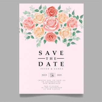 Beauté rose mariage événement invitation modèle modifiable thème féminin