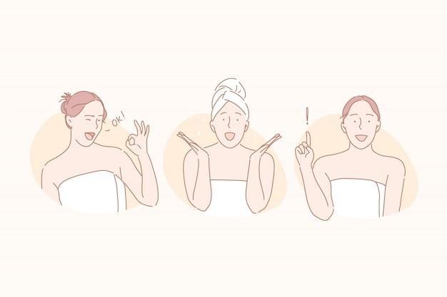 Beauté, soins de la peau, concept de jeu de spa