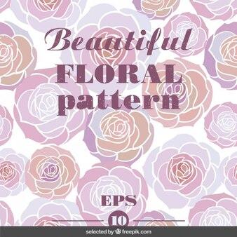 Beautifuol rose motif floral