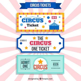 Beaux billets de cirque rétro