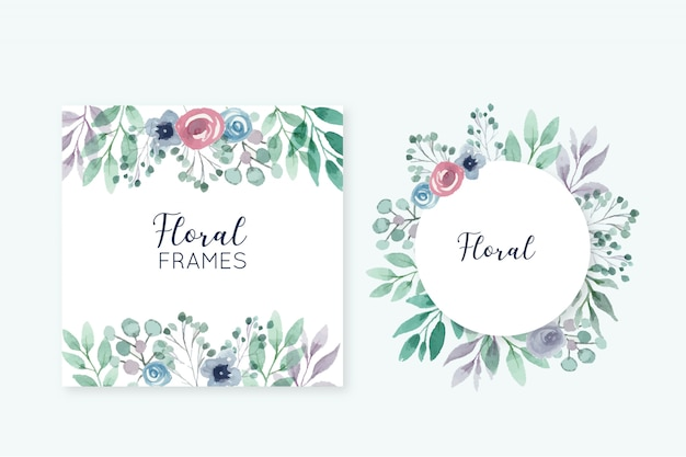 Beaux cadres floraux