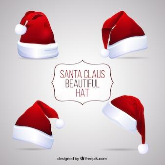 Beaux chapeaux de santa claus