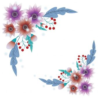 Beaux coins de fleurs