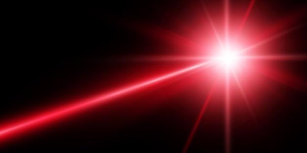Beaux faisceaux laser lumineux sur un fond transparent. laser scanner.