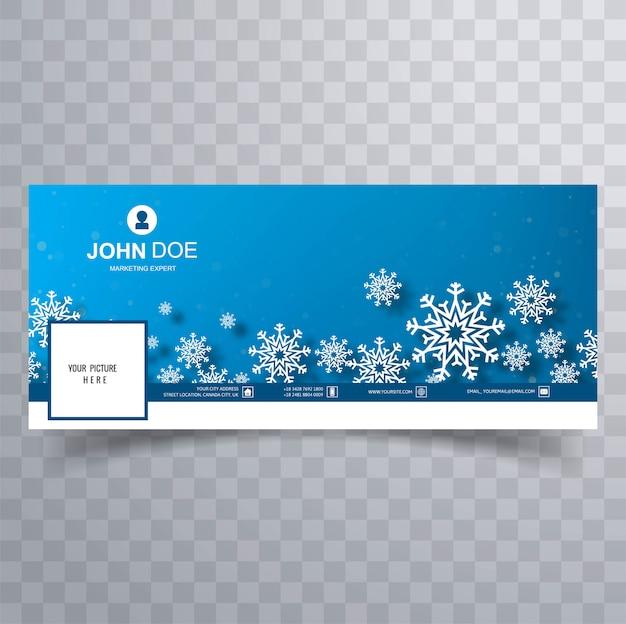 Beaux flocons de neige de noël avec couvercle bleu