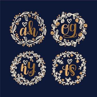 Beaux logos de mariage floral