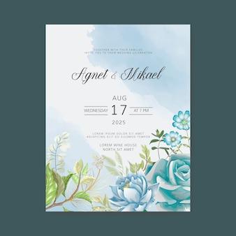 Beaux modèles d'invitation de mariage de verdure