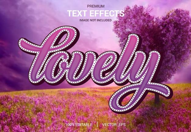 Beaux vecteurs d'effets de texte, ensemble effet de texte abstrait rose violet violet élégant