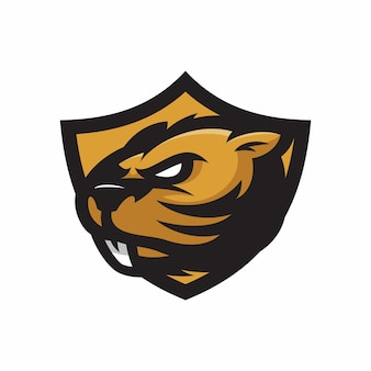 Beaver - vector logo / icône illustration mascotte