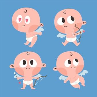 Bébé ange cupidon avec arc et flèches