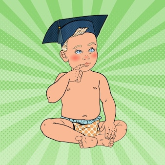 Bébé bébé garçon en bonnet
