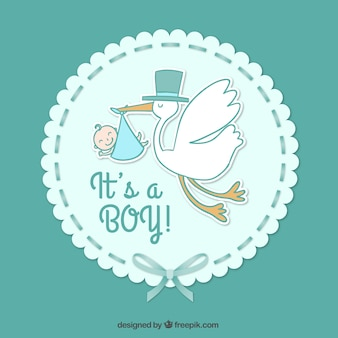 Bébé carte de garçon