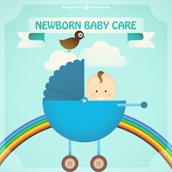 Bébé carte de poussette deisgn
