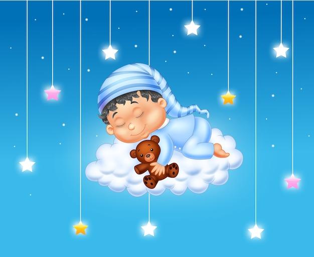 Bébé dort sur le nuage
