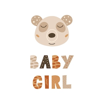 Bébé fille - conception de décor de crèche mignon.