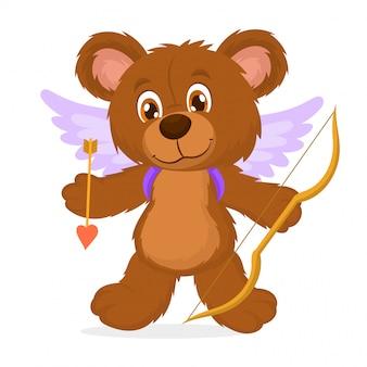 Bébé ours avec des ailes