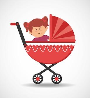 Bébé en poussette
