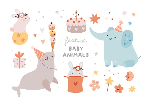 Bébés animaux festifs