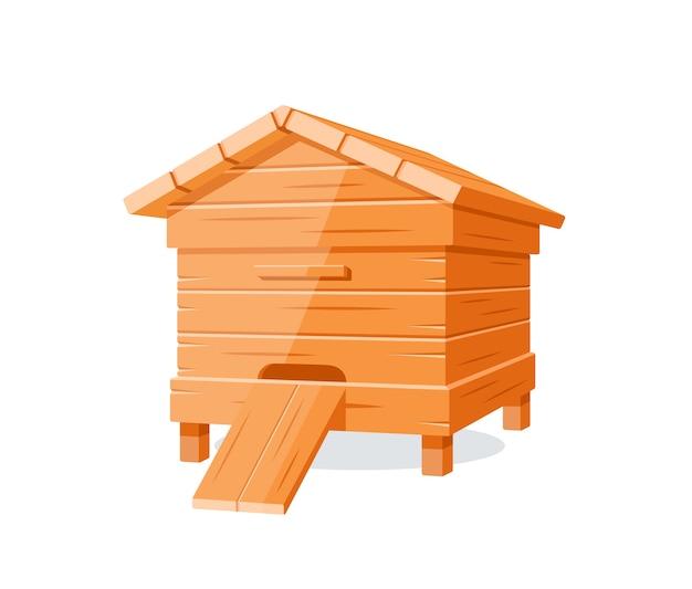 Beehive isolé sur fond blanc. élément de design pour le concept de miel.
