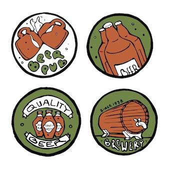 Beer pub autocollants ou emblèmes