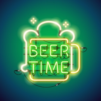 Beer time au néon