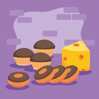 Beignets et cupcake