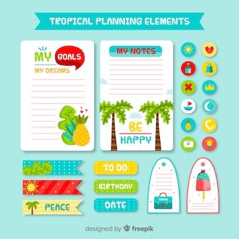 Bel échantillon d'éléments de planification