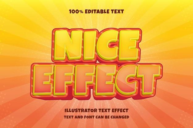 Bel effet, effet de texte modifiable 3d style comique ombre moderne