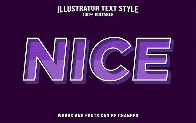 Bel effet de style de texte