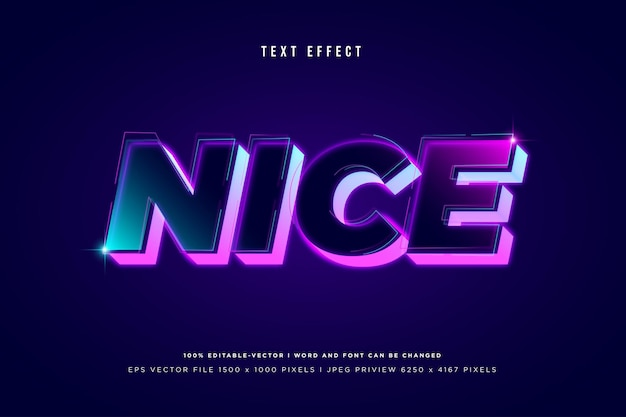 Bel effet de texte 3d sur fond violet foncé