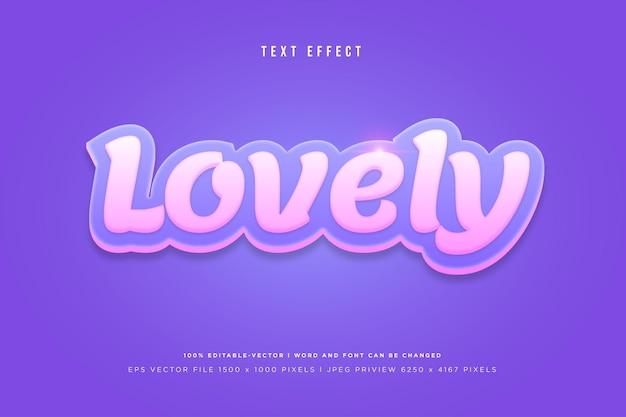 Bel Effet De Texte 3d Sur Fond Violet Vecteur Premium