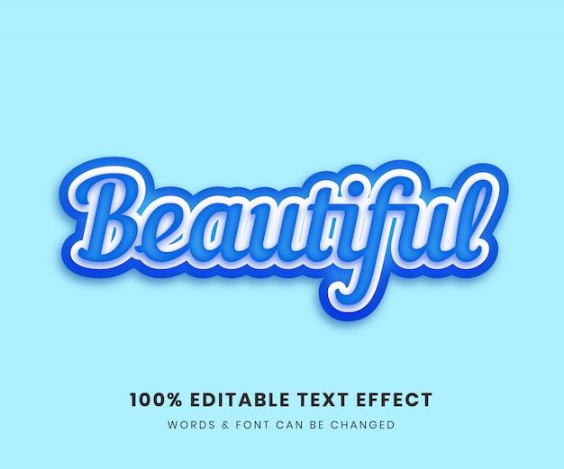 Bel effet de texte entièrement modifiable