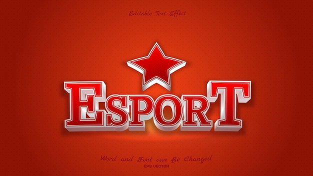 Bel Effet De Texte Esport Vecteur Premium