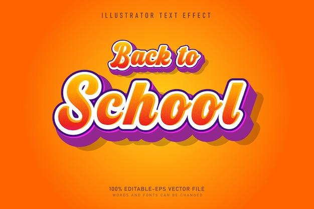 Bel effet de texte de retour à l'école modifiable