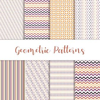 Bel ensemble de motifs géométriques