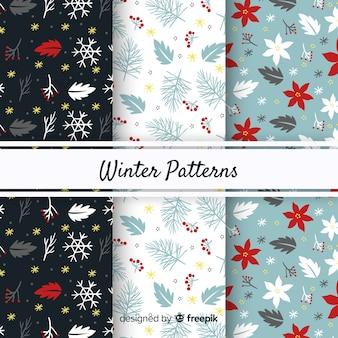 Bel ensemble de motifs d'hiver