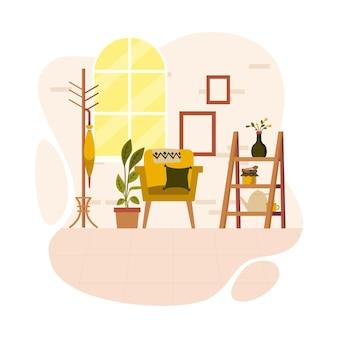 Bel intérieur de maison inspiré par l'automne