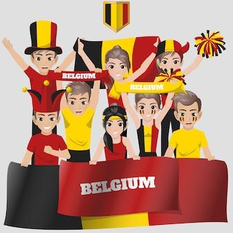 Belgium supporter de l'équipe nationale