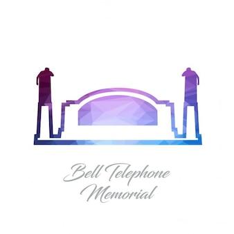 Bell telephone memorial monument polygon logo