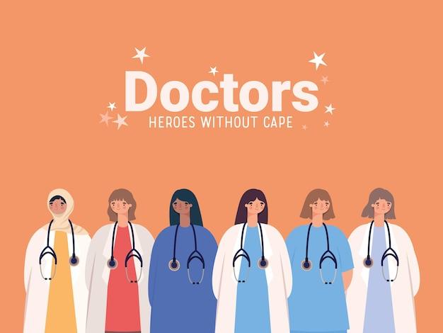 Belle affiche de médecins