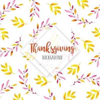 Belle aquarelle happy thanksgiving fond