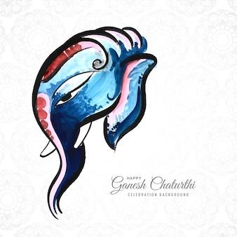 Belle aquarelle de seigneur ganesha pour ganesh chaturthi