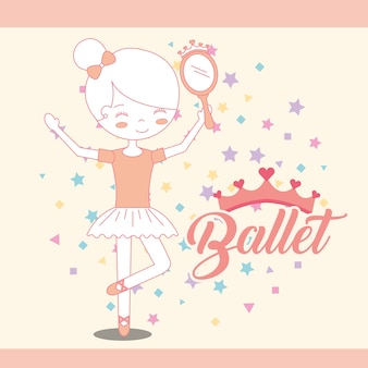Belle ballerine avec miroir accessoire ballet