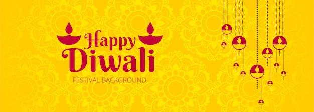 Belle bannière du festival diwali