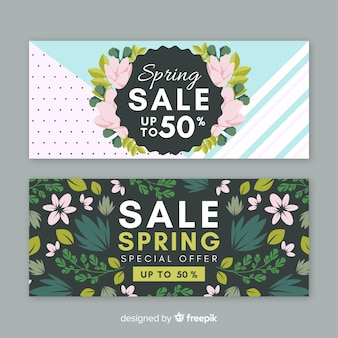 Belle bannière de vente de printemps