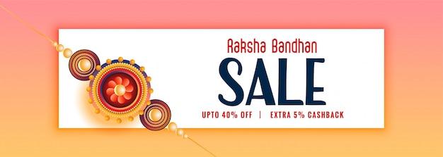 Belle bannière de vente de raksha bandhan avec rakhi