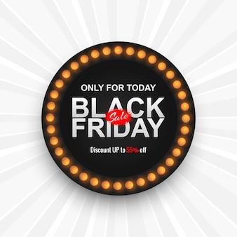 Belle bannière de vente vendredi noir