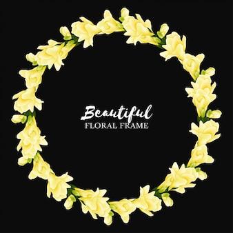 Belle bordure de fleurs jaunes