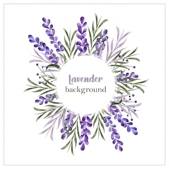 Belle bordure florale aquarelle