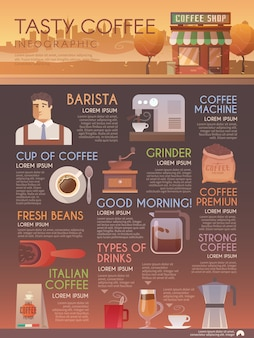 Belle brochure infographique plate pour vos projets